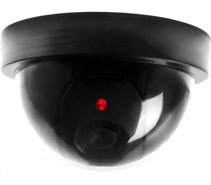 Муляж камеры видеонаблюдения купольная камера UKC 6688 с подсветкой как призаписи