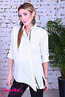 Рубашка с асимметричной застежкой для беременных и кормящих мам, белый