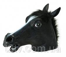 Маска голова лошади (коня) - черная