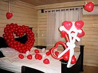 Воздушные шарики с гелием 14 февраля Оформление ко Дню Валентина.