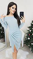 Нарядное   платье цвета  серебро от YuLiYa Chumachenko