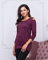 Женский свитер бордового  цвета  от YuLiYa Chumachenko