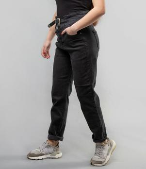 """Женские джинсы черные мом """"Lady Forgina"""""""
