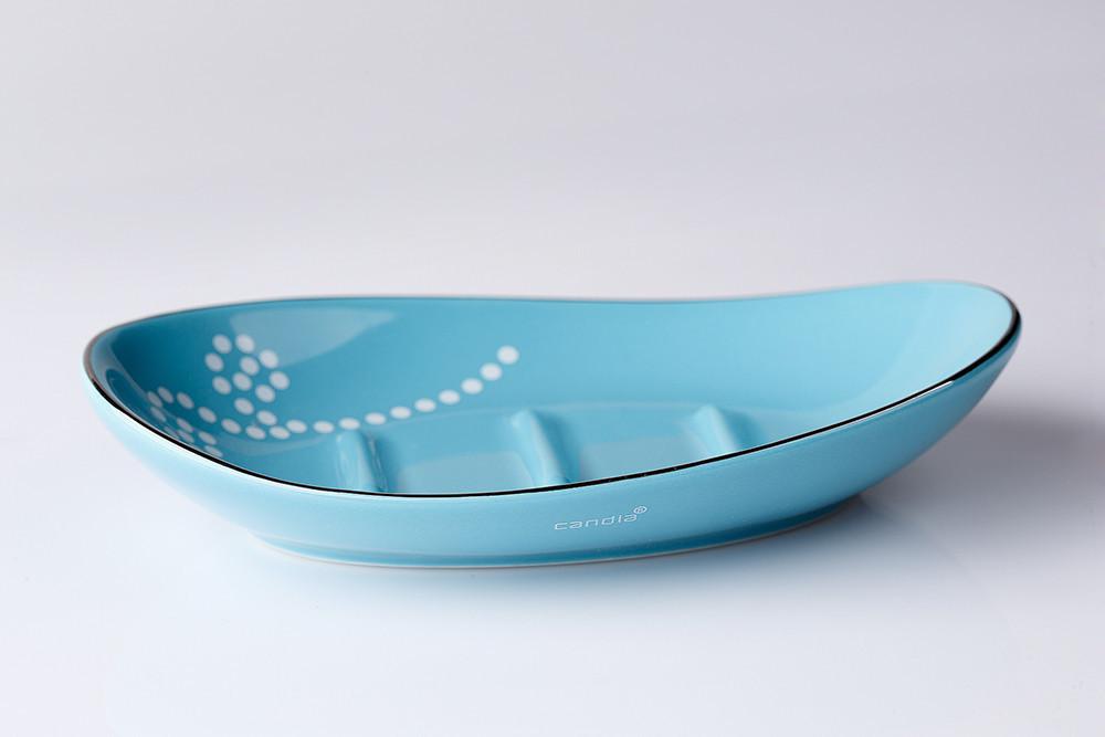 Мыльница для ванной синяя