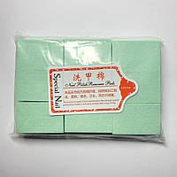 Безворсовые салфетки для снятия липкости с ногтей 600шт, салатовые