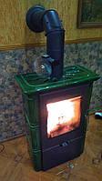 Кафельная печь с водяным контуром Landshut 2 Top - зеленая ( изразцовая печь , каминофен ).