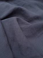 """Льняная ткань для постельного белья с """"эффектом помятости"""" серого цвета (шир. 255 см), фото 1"""