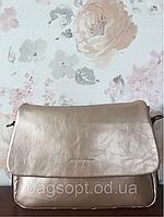 Женская сумочка Pretty Woman на длинном ремешке золотистая Одесса 7 км, фото 1