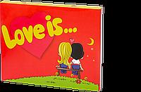 Набор шоколадных плиток с фото « Шокопазл в коробке Love is » 20 шт молочный шоколад OK-1077