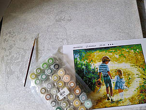 Набор для рисования по номерам Идейка  Букет из анютиных глазок, фото 2