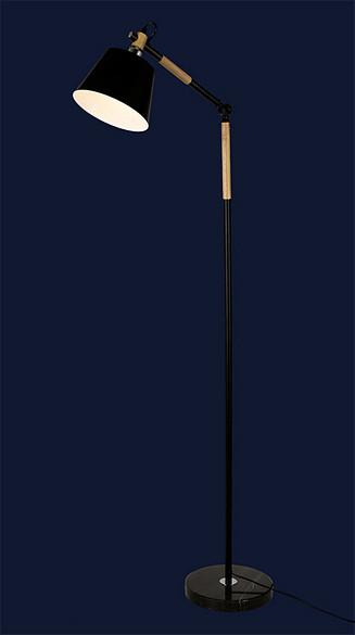 Напольный светильник с металлическим плафоном 9192027-1