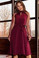 Платье красное женское рукав сетка стильное размеры  42 44 46 новинка 2020 есть цвета