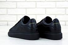 Женские кроссовки в стиле Alexander McQueen All Black, фото 3