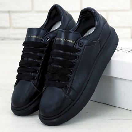 Женские кроссовки в стиле Alexander McQueen All Black, фото 2