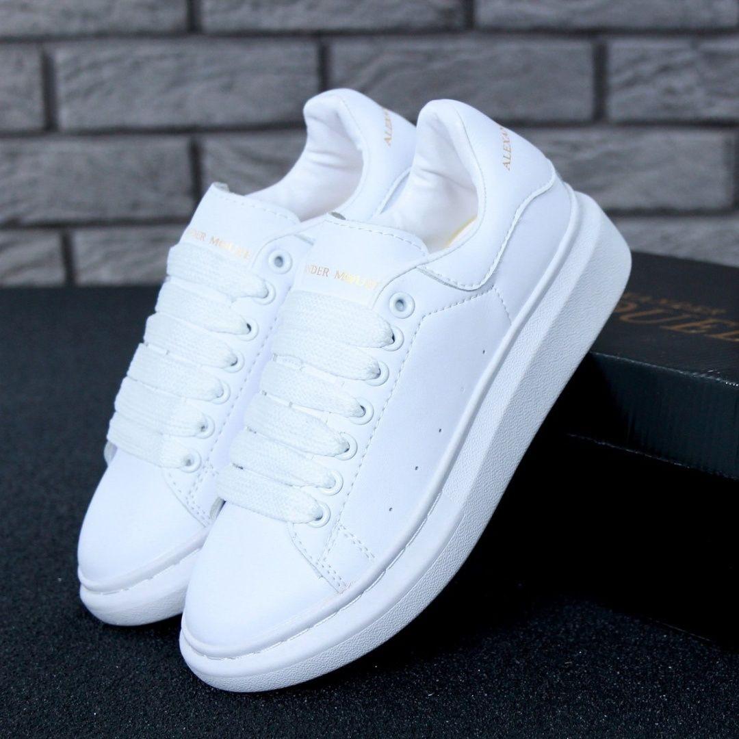 Женские кроссовки в стиле Alexander McQueen All White