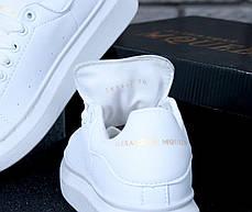 Женские кроссовки в стиле Alexander McQueen All White, фото 2