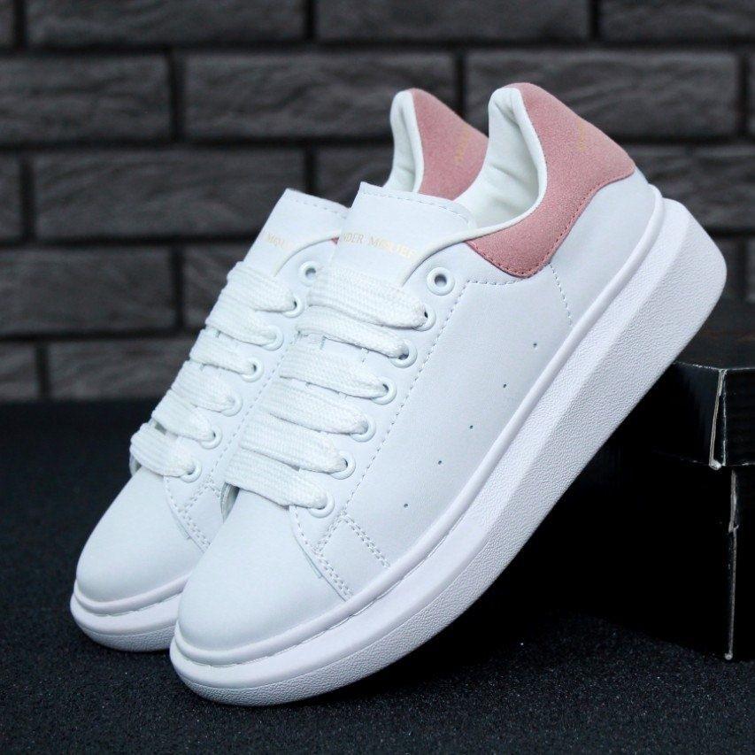 Женские кроссовки в стиле Alexander McQueen White/Pink