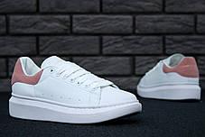 Женские кроссовки в стиле Alexander McQueen White/Pink, фото 2