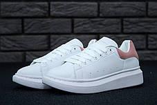 Женские кроссовки в стиле Alexander McQueen White/Pink, фото 3