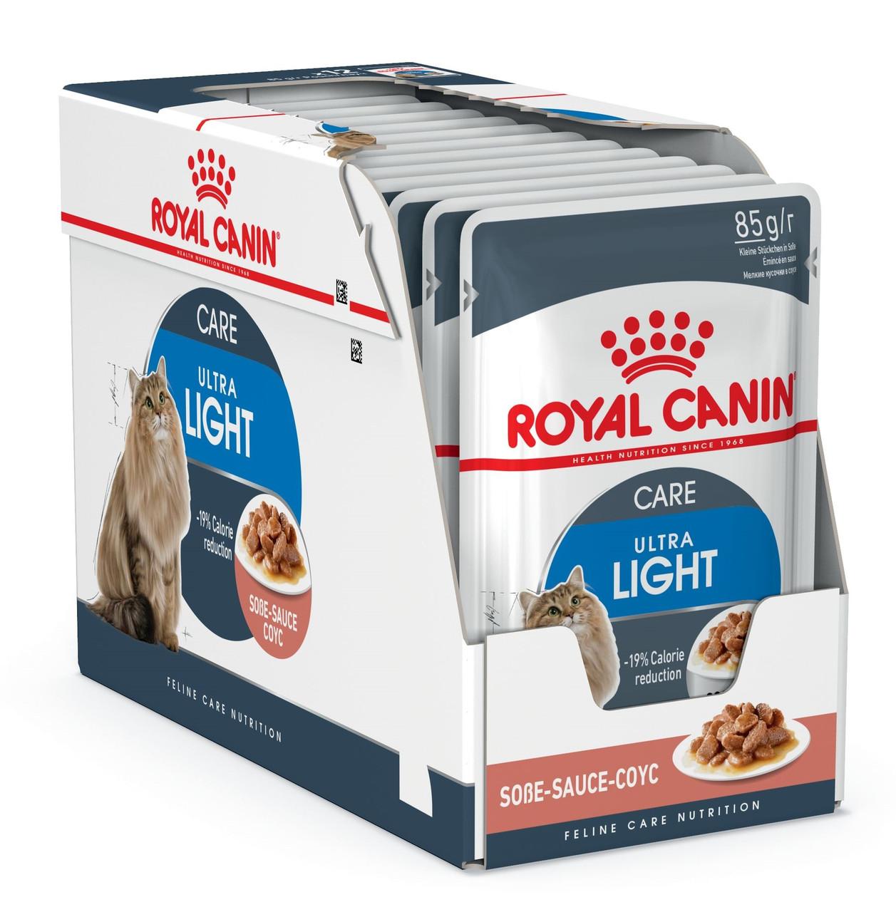 Влажный корм Royal Canin Ultra Light для кошек, склонных к полноте блок 85 г*12 шт.