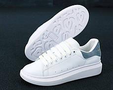 Женские кроссовки в стиле Alexander McQueen White/Grey, фото 2