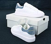 Женские кроссовки в стиле Alexander McQueen White/Grey, фото 3