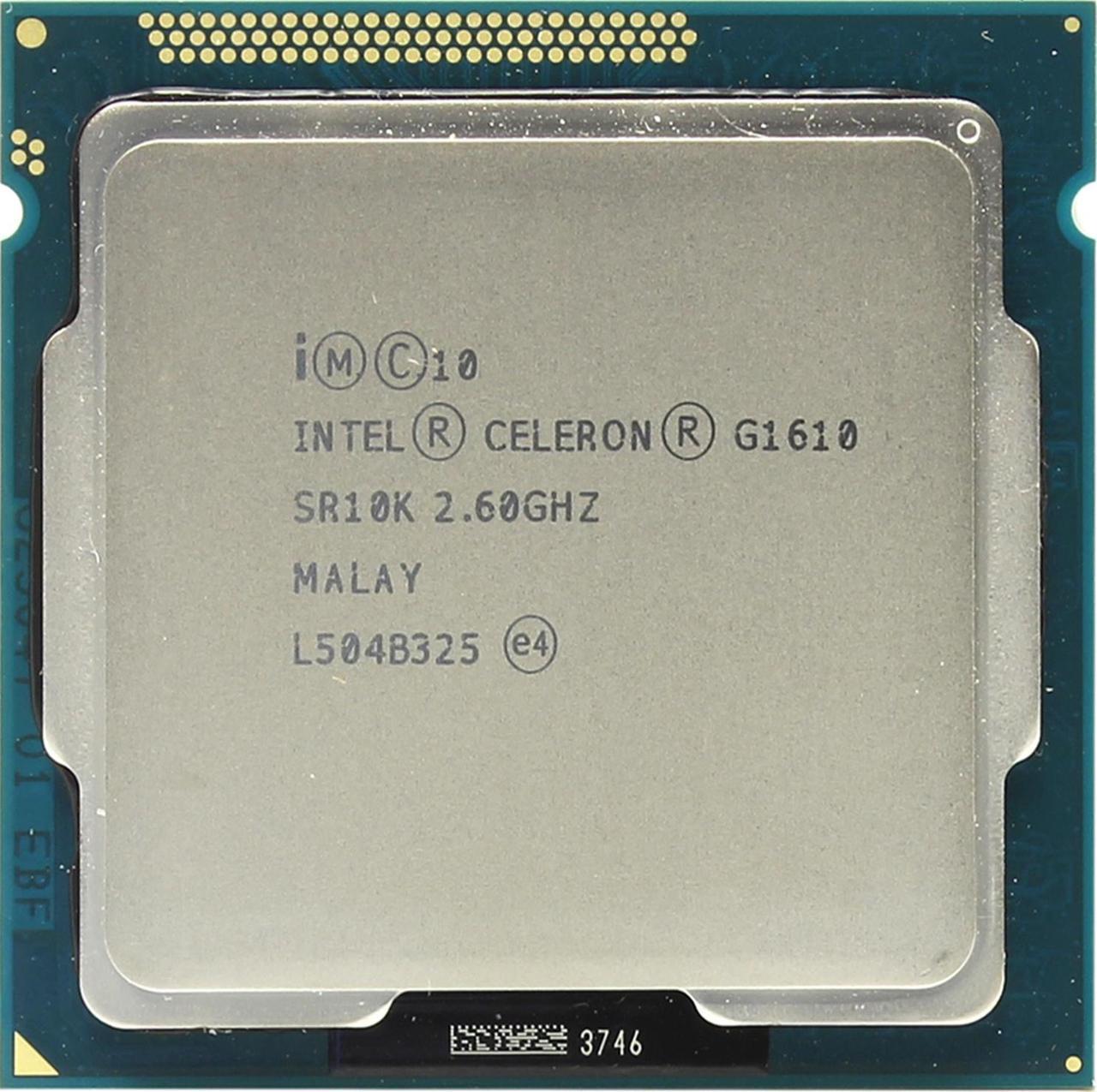 Процессор, Intel Celeron g1610, 2 ядра, 2.6 гГц