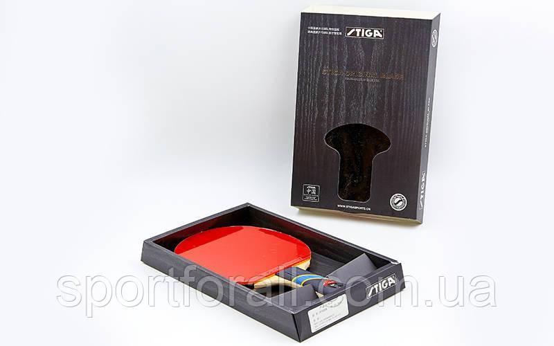 Ракетка для настільного тенісу 1 штука в кольоровій коробці SGA TRIUMPH ORIGINAL BLADE Replika MT-7137