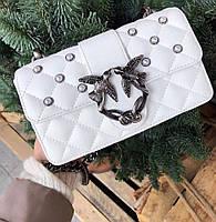 Женская сумка Pinko mini  Пинко белая