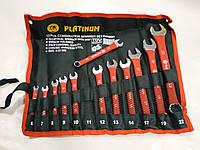 Набор ключей рожково-накидных 12 штук PLATINUM сумка