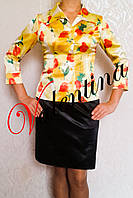 Шелковая блуза с английским воротником