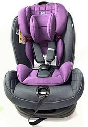 Детское автокресло El Camino TALISMAN ME 1065 Purple группа 0+/1/2, 0-25 кг, ткань лен