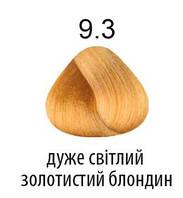 Kaaral 360 Colours.Стойкая крем-краска тон 9.3 очень светлый золотистый блондин 100 мл, фото 1
