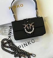 Женская сумка Pinko mini  Пинко черный цвет