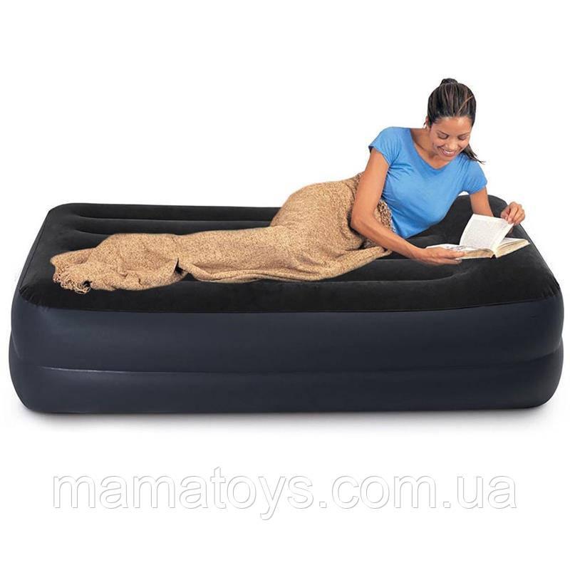 Надувне ліжко односпальне 64122 Intex 99-191-42 см з вбудованим електро насосом від мережі 220В