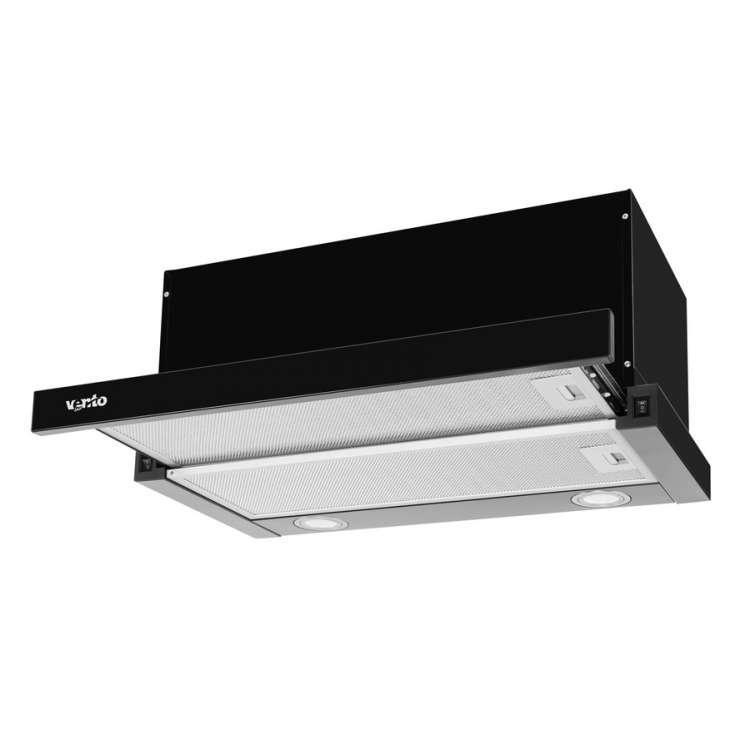 Вытяжка VENTOLUX GARDA 60 BK (800) LED
