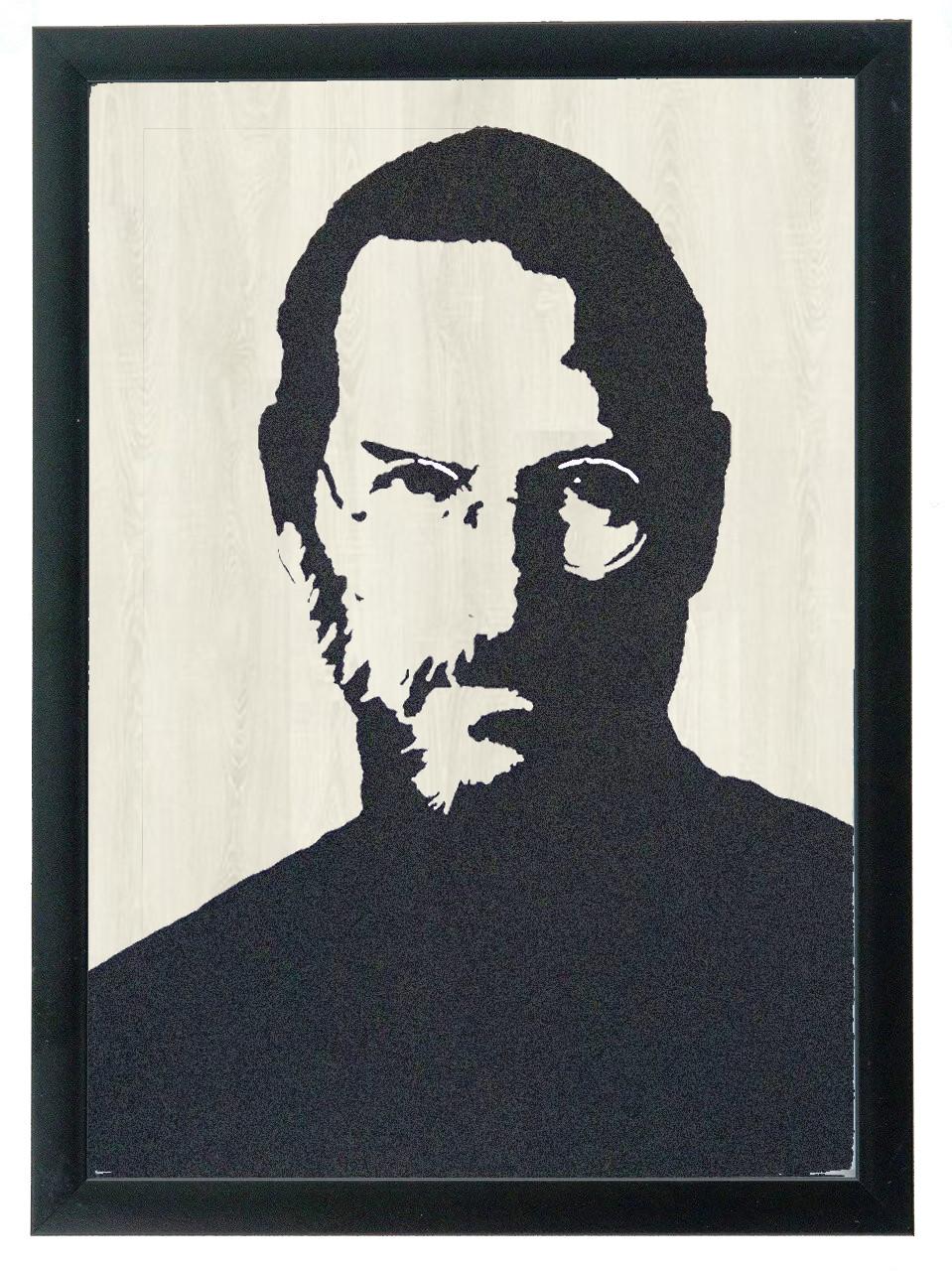 """Постер """"Jobs"""" гравировка на деревянной основе 30Х40 БЕСПЛАТНАЯ ДОСТАВКА"""