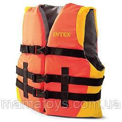 Детский Спасательный Жилет 69680 Intex для плавания с пенопластовыми вставками, от 23 до 40 кг