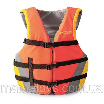 Спасательный Жилет Взрослый 69681 Intex для плавания с пенопластовыми вставками, от 40 - 70 кг