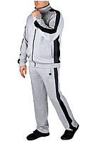Мужской спортивный костюм серый меланж, фото 1