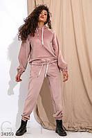 Женский велюровый костюм брюки и кофта,цвет пудра, фото 1