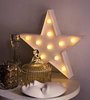 """Декоративный LED светильник ночник """"Звезда"""" 24см , 3цвета (розовый, голубой, белый), фото 1"""