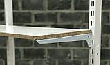 Полицетримач в рейку 40 см білий одинарний, фото 4