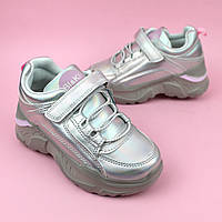 Кроссовки на девочку перламутровые на платфрме тм Bi&Ki размер 28,31
