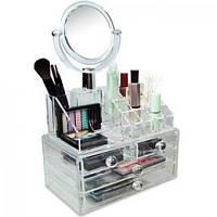 Органайзер для косметики с зеркалом Cosmetic Organizer, фото 1