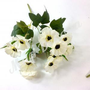 Букет диких маков, белый, 30 см