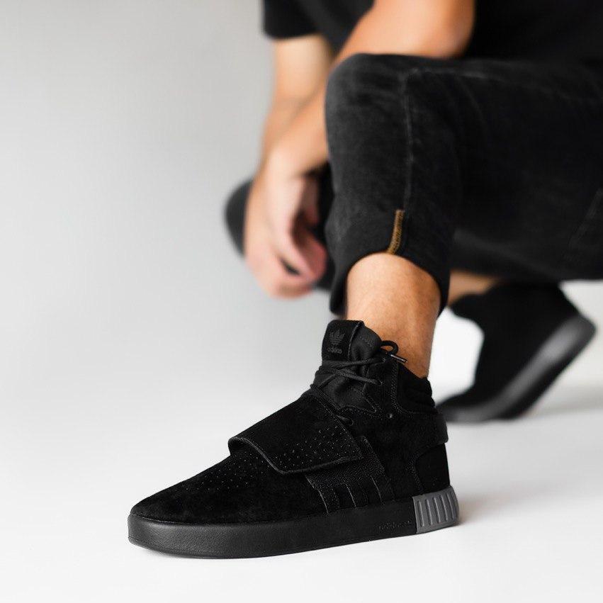 "Кроссовки Adidas Tubular Invader Strap ""All Black"""