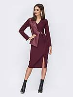Платье бордовое длинное повседневное 44 46 48 50