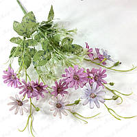 Букет ромашка шебби шик, фиолет с сиреневым, 40 см