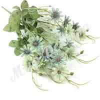 Букет ромашка шебби шик, голубой с зеленым, 40 см